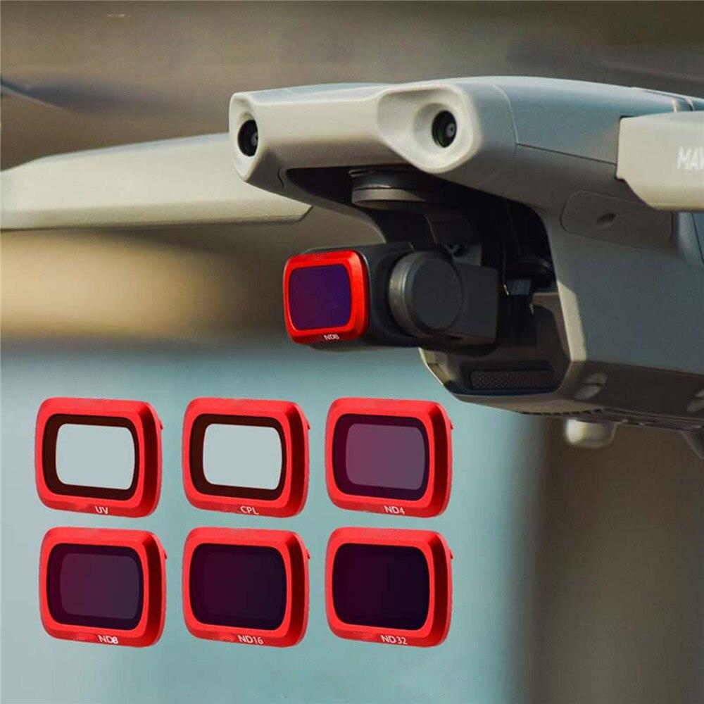 Reemplazo Filtro de lente de cámara para DJI Mavic aire 2 HD UV CPL ND4 ND8 ND16 ND32 Kit de filtro para DJI Mavic aire Drone 2 piezas de cámara
