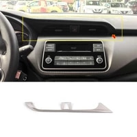 for nissan kicks 2017 18 19 2020 2021 stainless steel lhd car middle air outlet decoration cover trim car styling accessories