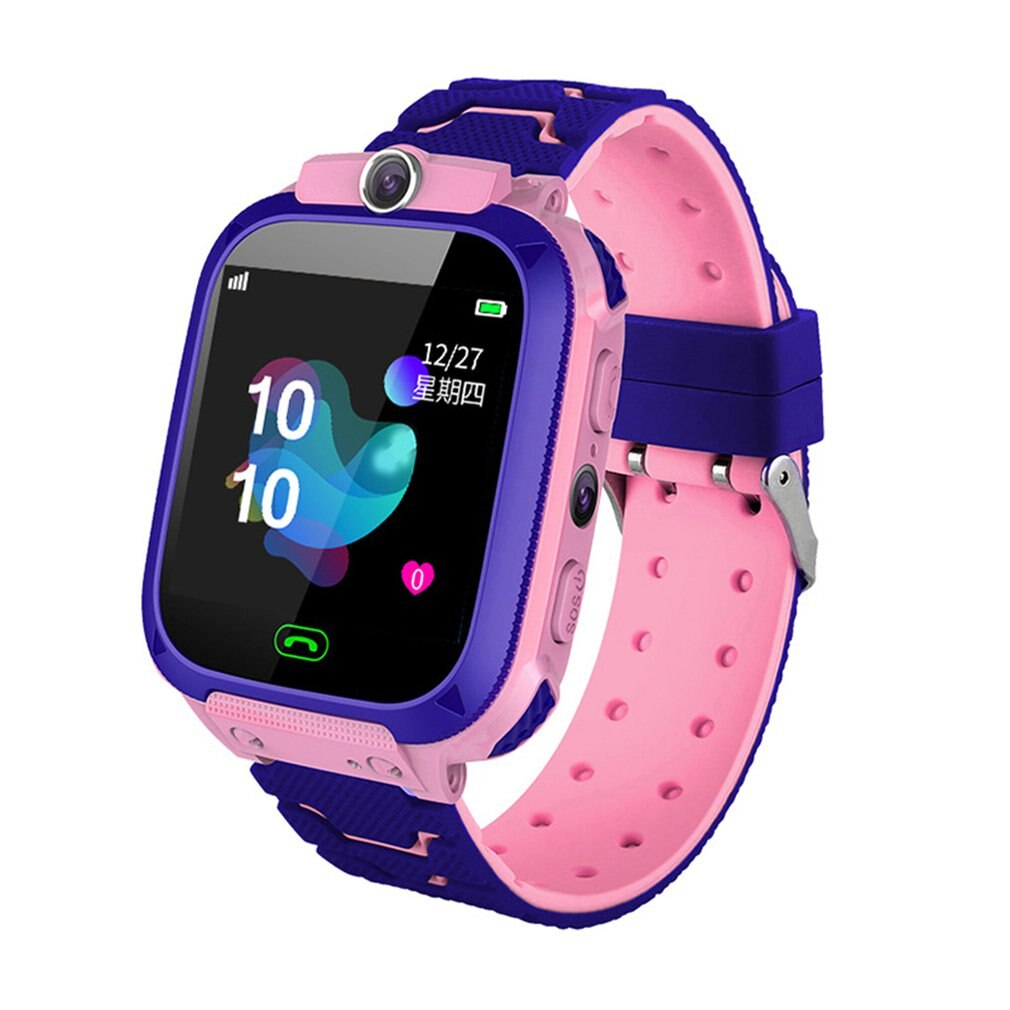 Kids Smart Watch Phone For Girls Boys With Gps Locator Pedometer Fitness Tracker Touch Camera Anti Lost Alarm Clock Q12B