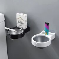 1 pc portable ashtray wall stainless steel pocket smoke holders storage cup for toilet home office cigarette tools case box