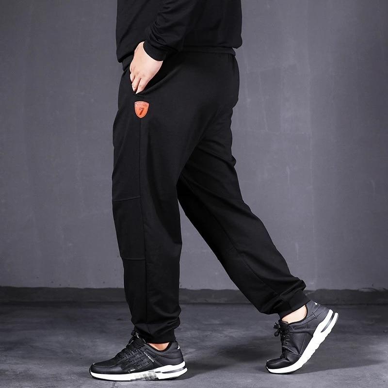 high quality autumn men sweatpants sports pants plus size 7XL 8XL 9XL 10XL oversize pants black simple 150KG 58 60 62 66 68 70