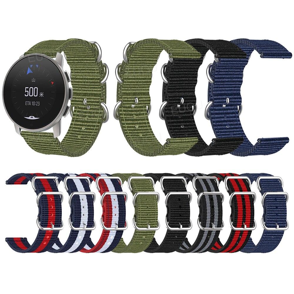 watchband for suunto 9 peak suunto 3 watch strap band soft silicone wristband bracelet replace accessories For SUUNTO 9 PEAK Wristband Woven Nylon Watch Strap For SUUNTO 3 Silver Ring Buckle Fabric Band Watchband Bracelet Accessories