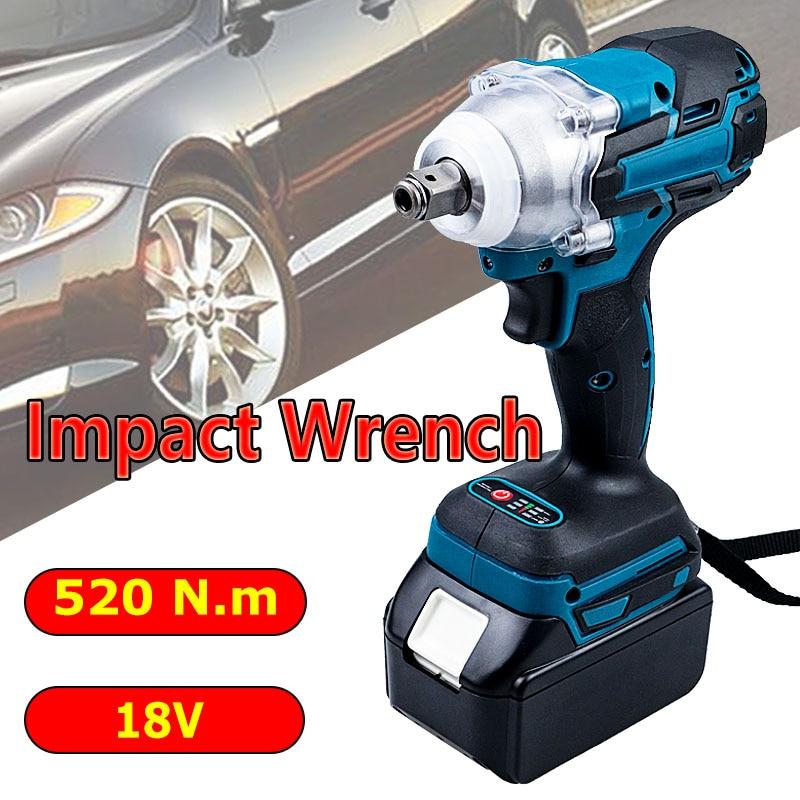 Llave de impacto eléctrica para Makita, Herramientas eléctricas de 18V, destornillador eléctrico...