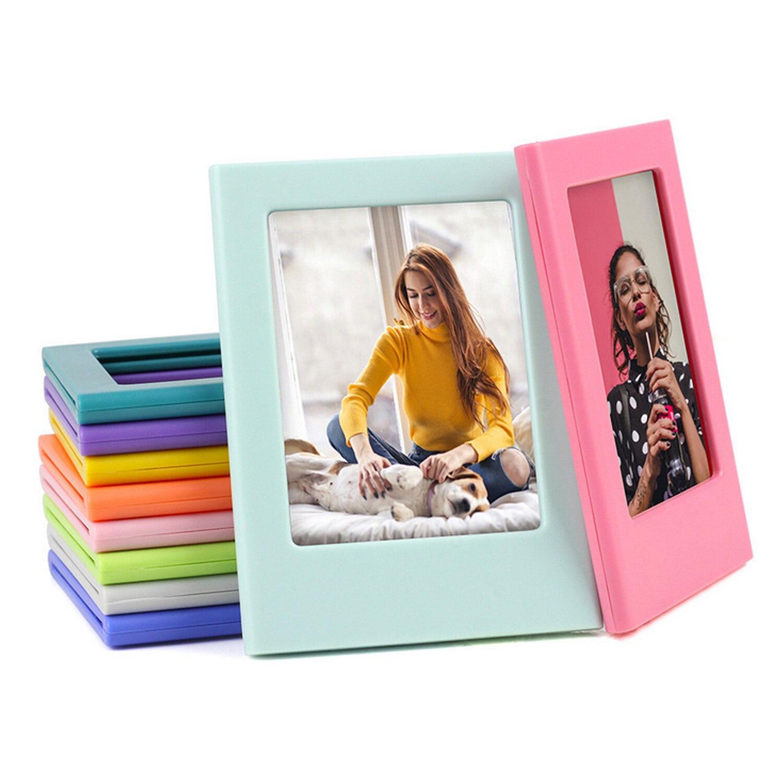 10 Uds. Colores surtidos Combinación libre marcos de foto magnética marcos de fotos para Fujifilm Instax Mini 8 8 + 9 películas de cámara instantánea
