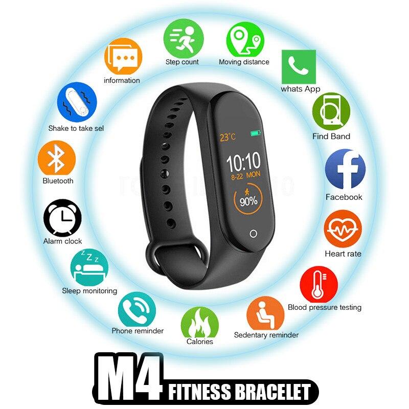 Pulsera inteligente M4 pk M3, reloj inteligente deportivo con pantalla a Color y resistente al agua