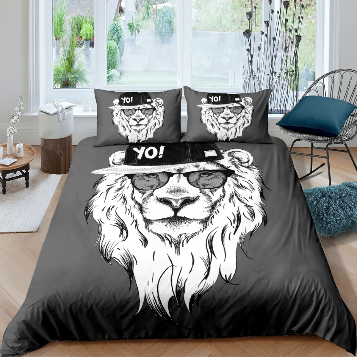 Animal Rapper Printed Duvet Cover Pillowcase 3D Cartoon Bedding Set Adult Single Twin Double Queen King Size Home Textiles