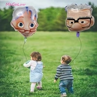1pc cartoon grandpa and grandma balloon toys 50 years golden wedding anniversary celebration father and mothers day supplies