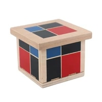 montessori wooden toys binomial cube sensorial toys math learning teaching supplies wooden educational toys for kids oc1666w
