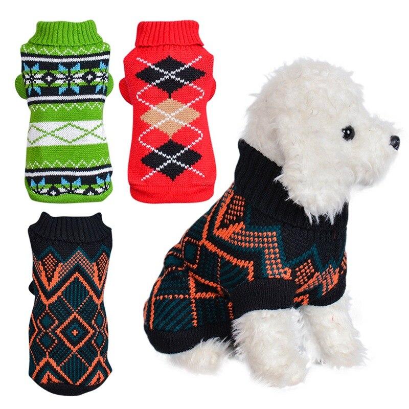 Chien automne hiver chaud vêtements Plaid Costume Chihuahua Yorkie animal de compagnie chat tricoté manteau veste vêtements petit moyen chien