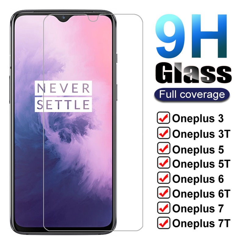 9H Tempered Glass For Oneplus 7 7T 6T 5T 6 5 3T 3 1+7 1+6 Screen Protector One Plus 7 Oneplus7 6 T 7