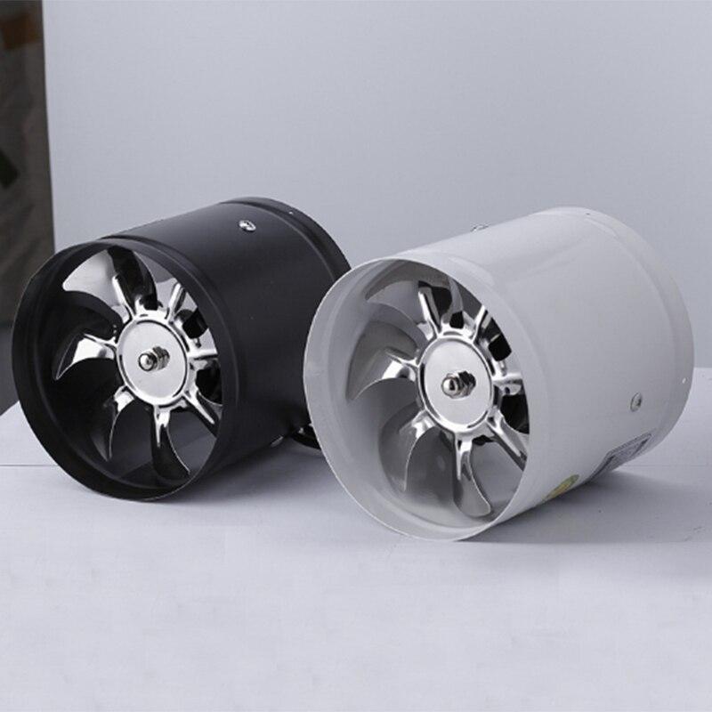 4-дюймовый встроенный вентилятор для воздуховода, вентилятор для вентиляции металлических труб, вытяжной вентилятор, настенный вентилятор ...
