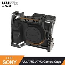 소니 A73 A7R3 A7M3 표준 Arca 퀵 릴리스 플레이트 W 탑 핸들 그립 콜드 슈 마운트 DSRL 카메라 용 UURig C-A7III 카메라 케이지