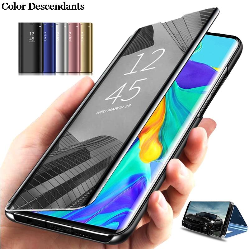 OPPO-funda con tapa para teléfono móvil, carcasa con espejo para OPPO A5S,...