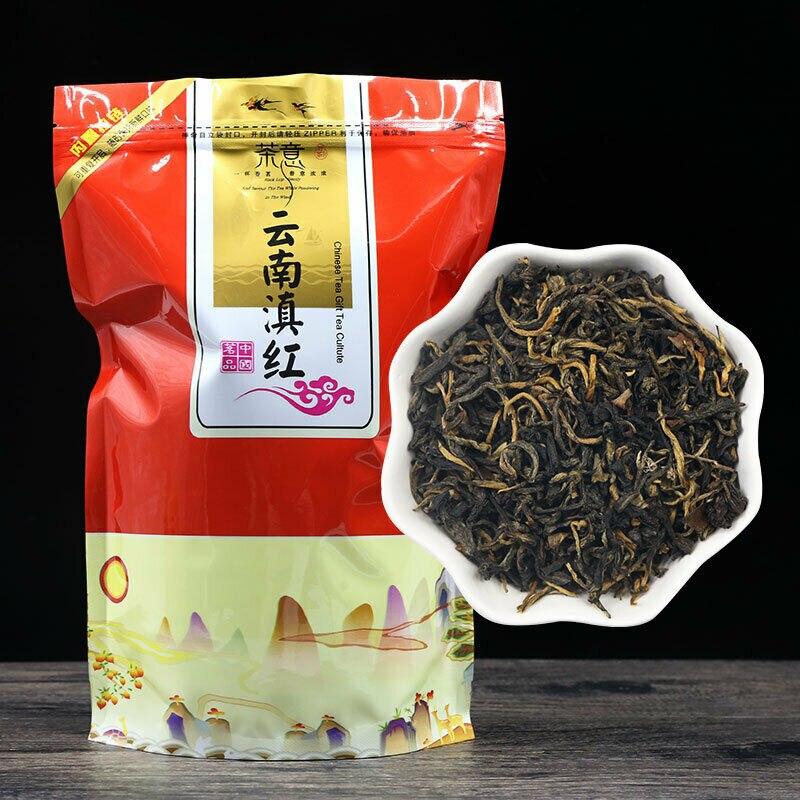 2021 ديان هونغ الشاي الصيني الأسود الشهير يونان ديانهونغ حقيبة حزمة