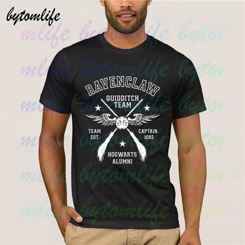 Hogwarts Ravenclaw Quidditch Team capitán, camiseta de hombre de verano de algodón de manga corta, camisetas normales populares, camisetas, camiseta Unisex