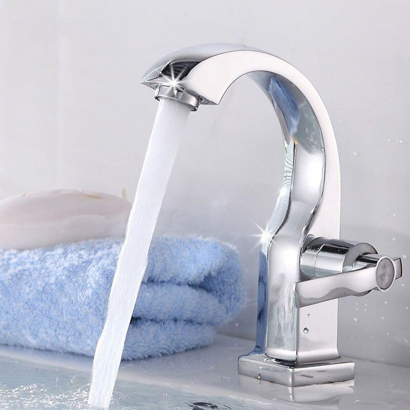 للحمام الوجه حوض ثقب واحد صنبور سبائك النحاس الحنفية الغرور حوض المياه الحنفيات لوازم الحمام