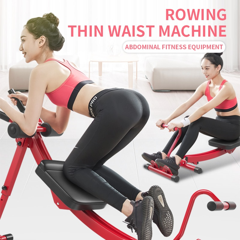 1PC Abdominal Fitness Equipment 3-in-1 Multi-function Rowing Machine Indoor Abdominal Fitness Equipment Home Use Fitness Device