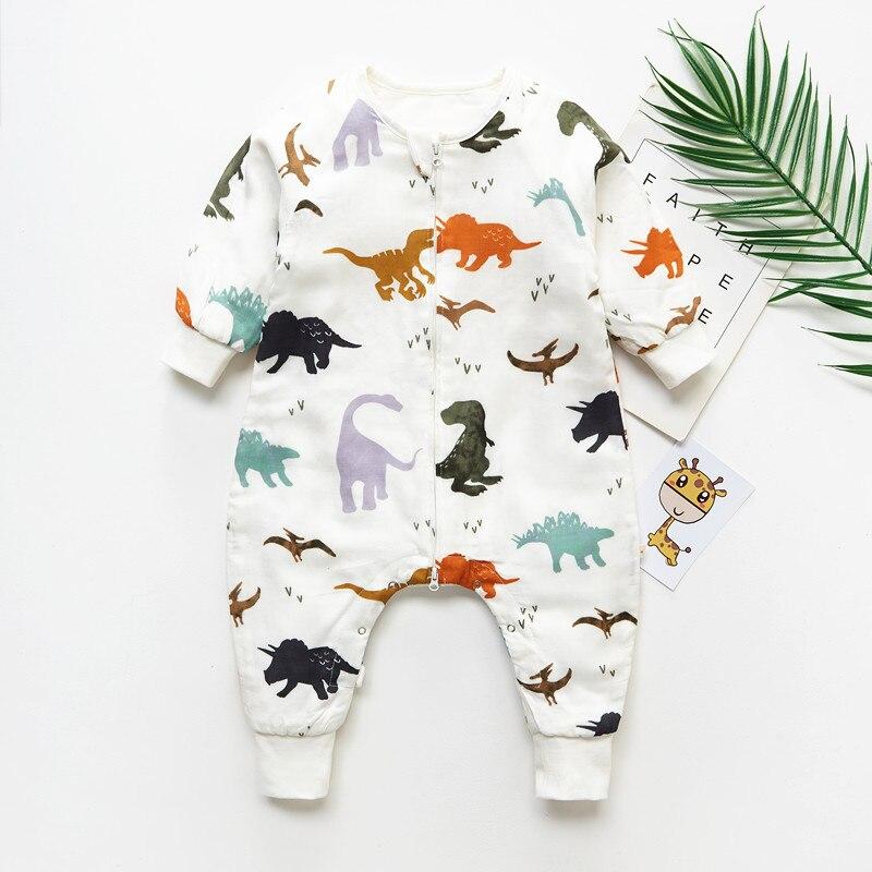 6 capas mamelucos bebé saco de dormir de algodón de bambú de muselina saco de dormir niños mangas bolsa de dormir Anti Kick Quilt