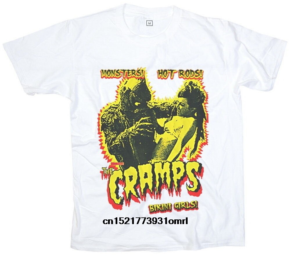 Мужская футболка, новинка, The Cramps Monster Bikini Psychobilly, рок, панк, женская, M, L, XL, XXL, XXXL, футболка, женская футболка