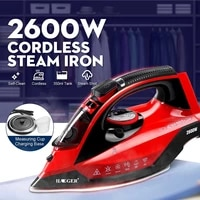 2600w portable mini electric garment steamer 5 gear steam iron for clothing ironing machine adjustable ceramic soleplate iron