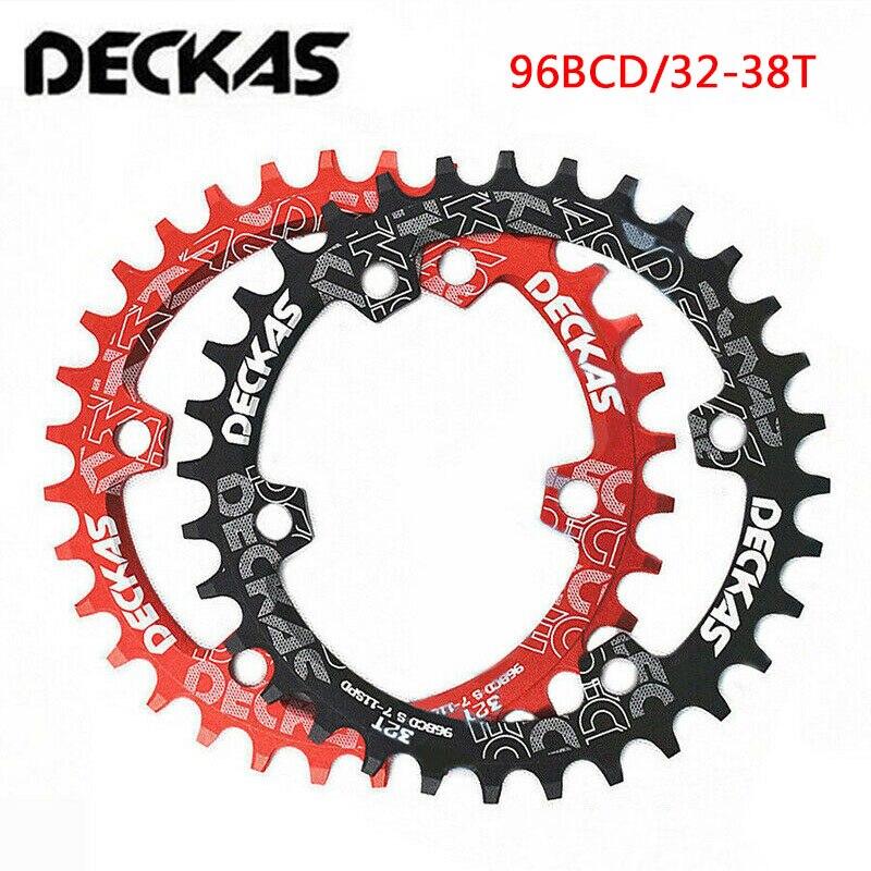 Deckas oval mtb chainring estreito largo 96bcd 94bcd anel de corrente redonda 32t-38t mountain bike estrada bicicleta roda dentada shimano deore