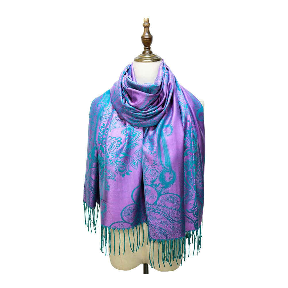 Bufandas De Cachemira para Mujer, chales largos, Ropa De Invierno, Pashmina, algodón,...