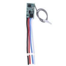 433 Mhz 1CH de RF de receptor Universal de Control remoto inalámbrico interruptor Micro módulo LED de luz controlador DC 3,6 V-24V DIY