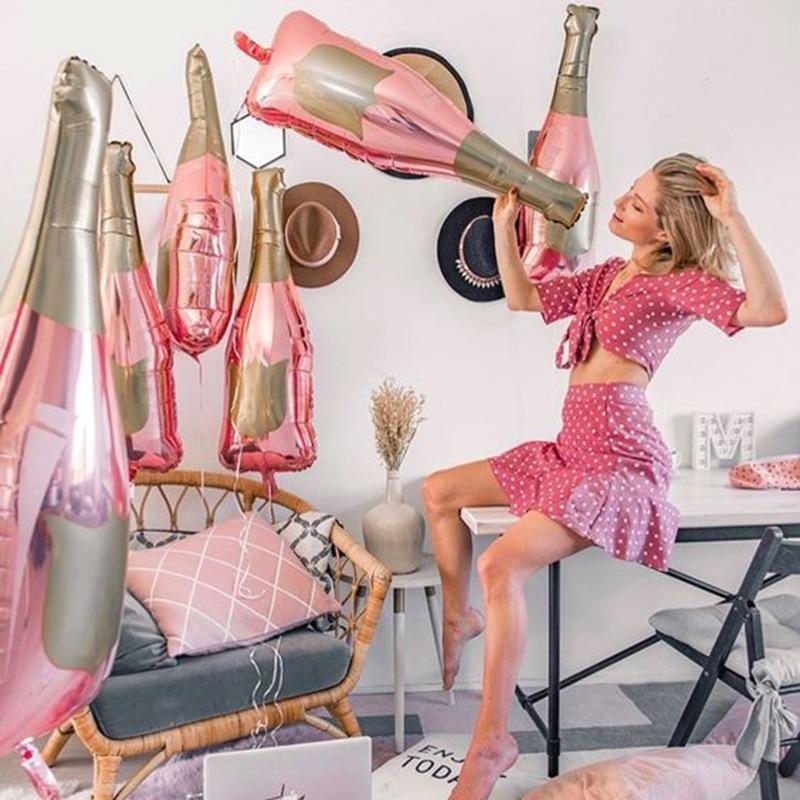 Uds Champagne oro rosa botella de vino de la botella de globos...