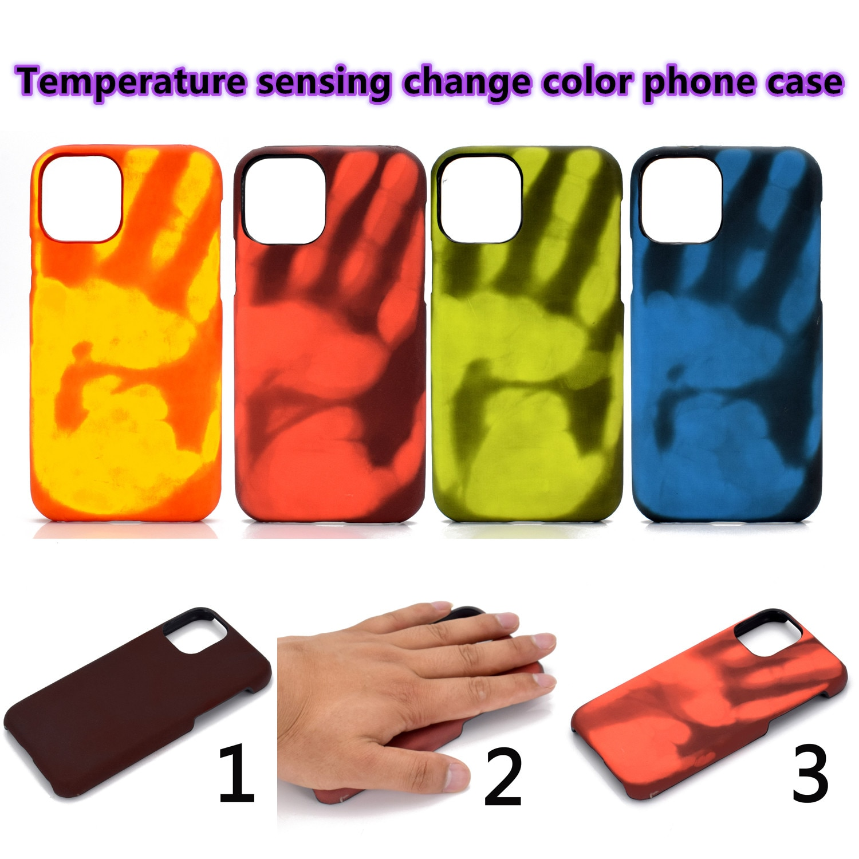 Tampas do telefone da cor da mudança da detecção da temperatura para o iphone 8 7 caso 6s 7 mais 11 11pro x xs xr 11promax se caso matte de alta qualidade
