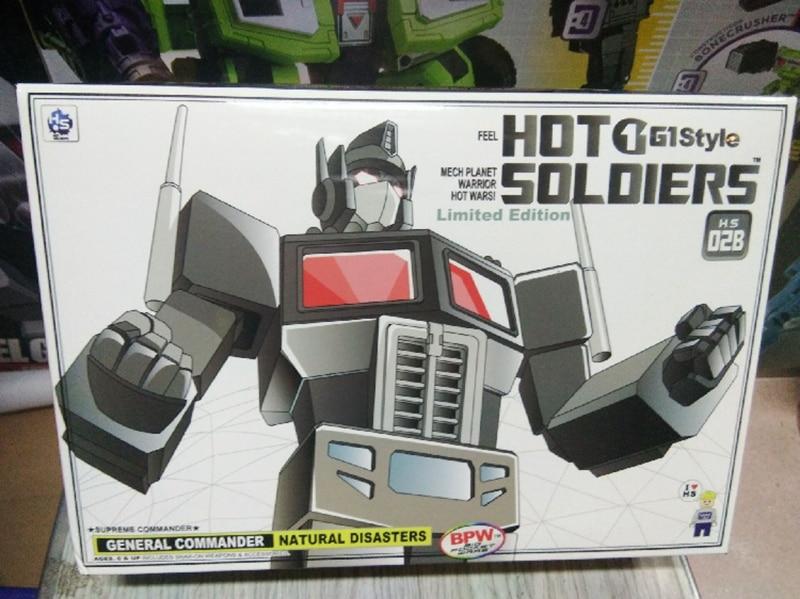 Maqueta de juguete deformada mecánica planet HS Optimus OP versión oscura HS02B hg-02B con compartimiento PVC