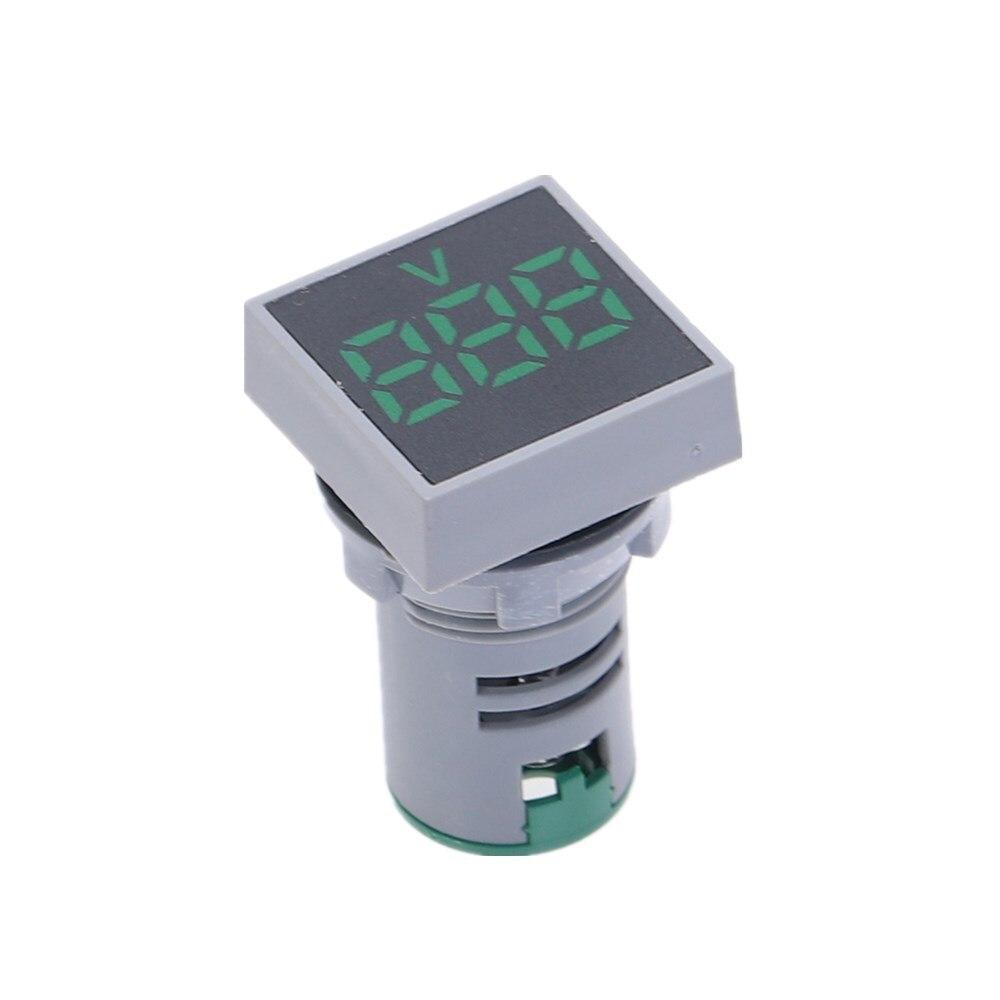 22 мм переменный ток 20-500 В вольтметр 0-100 А ампер квадрат панель светодиод цифровой напряжение метр индикатор свет