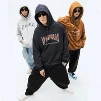 iidossan 2020 england style hoodies men sweatshirts women letter printed hiphop joggers hoodies thicken warm coats dropshipping