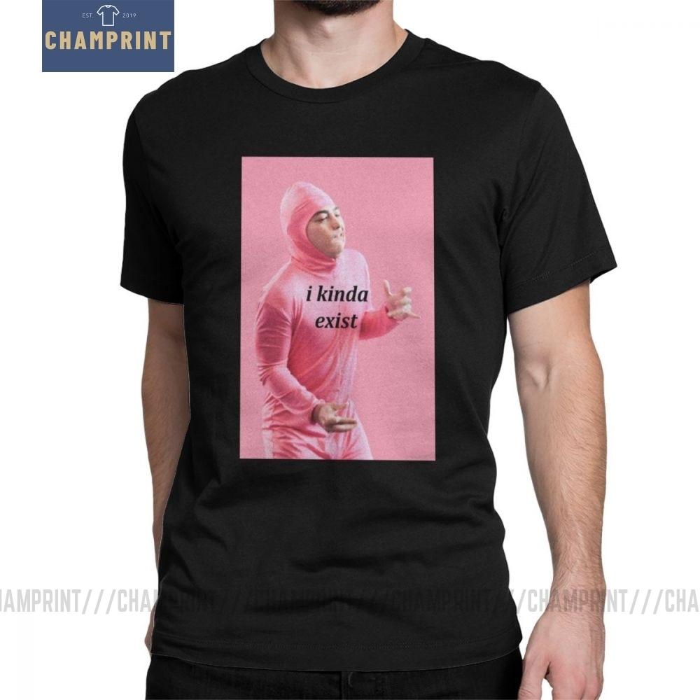 Мужская хлопковая футболка с коротким рукавом, розовая футболка с надписью «I Kind existy», «Грязная», «Frank Joji Meme», «японская Youtube», 4XL, 5XL, 6XL