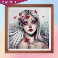 cartoon sexy silver witch girl 5d diamond painting cross stitch kits embroidery abstract art mosaic full drill home decor gifts