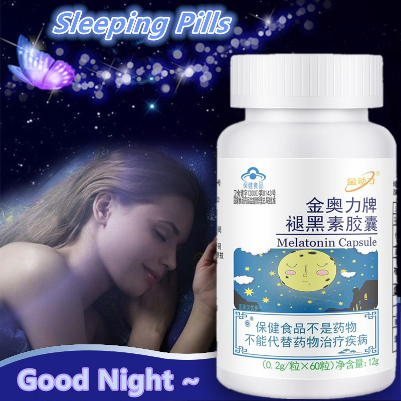 Sleeping Pills Strength Melatonin Help Improve Sleep Night Time Aid Fast Dissolve Dietary Supplement Fall Asleep Faster Longer