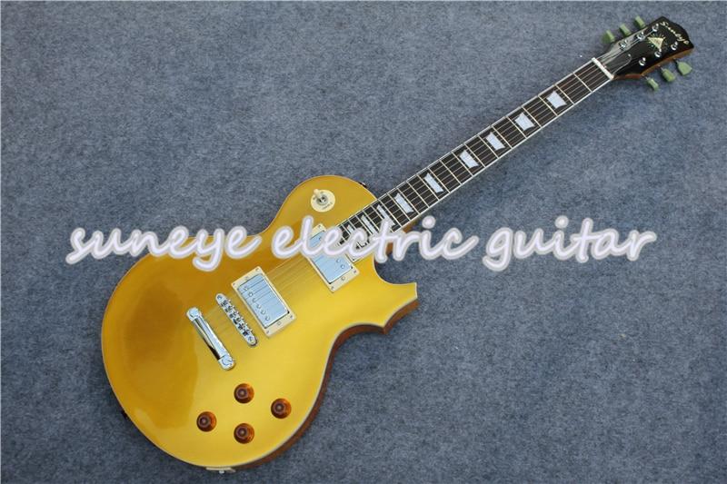 Guitarra eléctrica con acabado Goldtop Suneye, herramienta de cromo estándar, bricolaje, Kit...