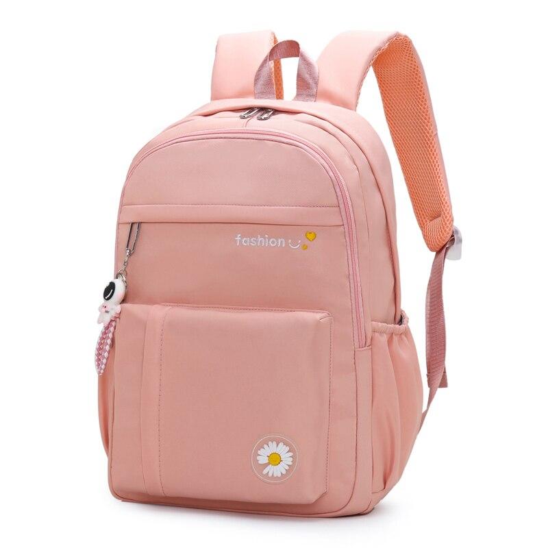 Waterproof Nylon School Backpacks for Girls Loveliness Applique School Bags for Girls Fashion Backpa