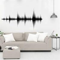 fashion audio wave wall decal sound wave recording studio music producer room decor wallpaper art vinyl sticker ov348