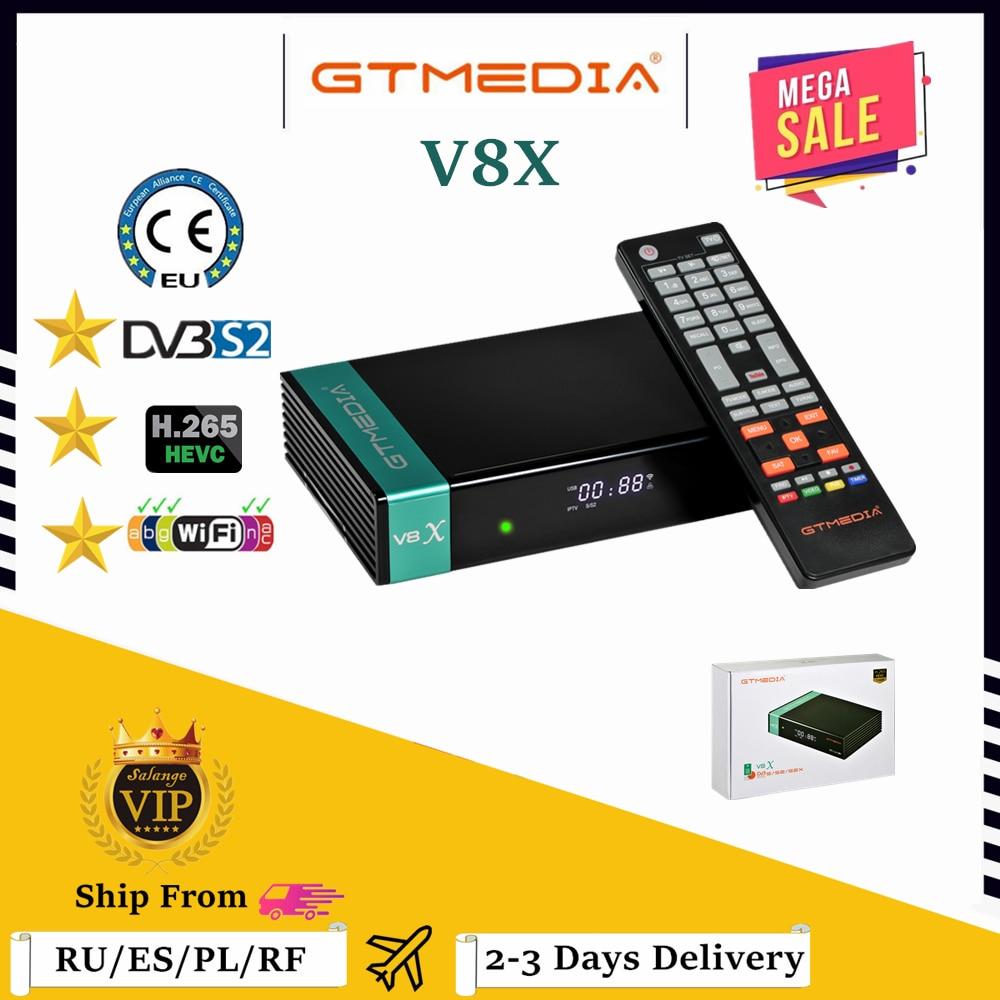 GTmedia-جهاز استقبال القنوات الفضائية V8X Freesat V8 Super ، جهاز استقبال القنوات الفضائية عالي الدقة ، تحديث من GTmedia V8 Nova V9 Super ، شبكة wi-fi متكاملة ، إسباني...