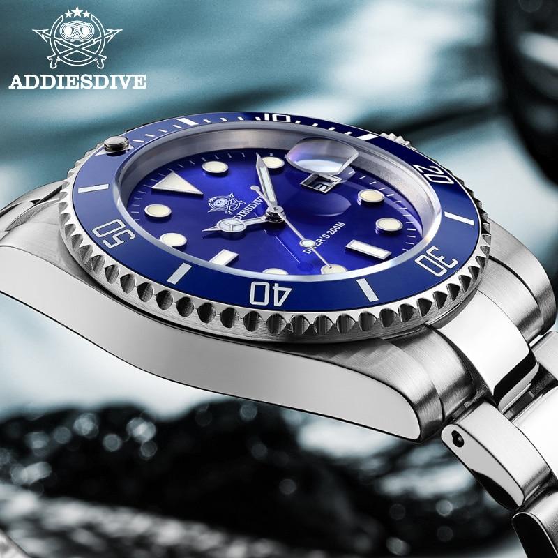 2020 New Fashion Watch Stainless Steel Diver Watch 200M C3Super luminous Sport luxury stainless steel watch Quartz Men's Watch enlarge