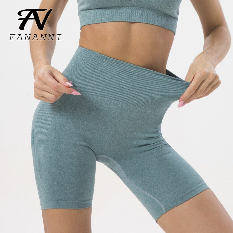 FANANNI Seamless Knitted Peach Hip Fitness Hip Shorts Running Training Sweat-Absorbent Quick-Drying