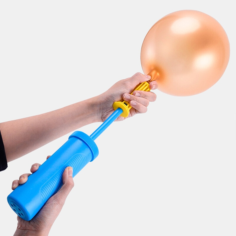 Cakelove Mini accesorios de globos bomba de aire de mano de empuje bomba suministros de fiesta de cumpleaños portátil de aluminio globo bomba de látex