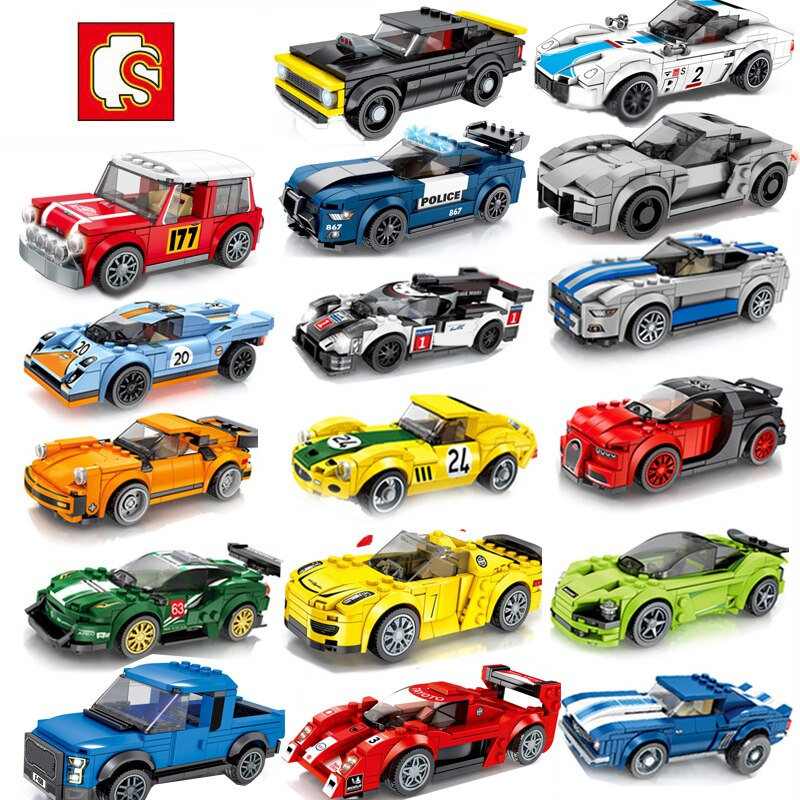 Creator city sembo block race car model set Racing car Building Brick high-tech super Speed Champions Toys For Children