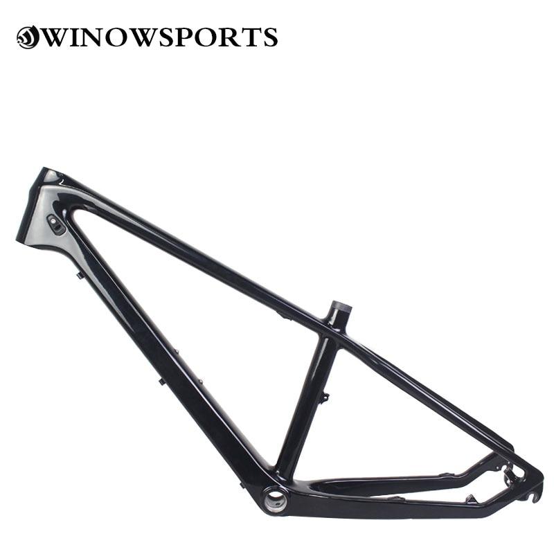 2020 pequeño cuadro de bicicleta mtb de carbono 24er adecuado desviador mecánico bicicleta de cola dura de carbono UD brillo BSA68 cuadro de bicicleta de carbono