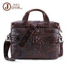 Hommes porte-documents en cuir véritable sac pour hommes sacs de bureau pour hommes pochette dordinateur 15.6 pouces mallette daffaires hommes Croco Design sac de travail