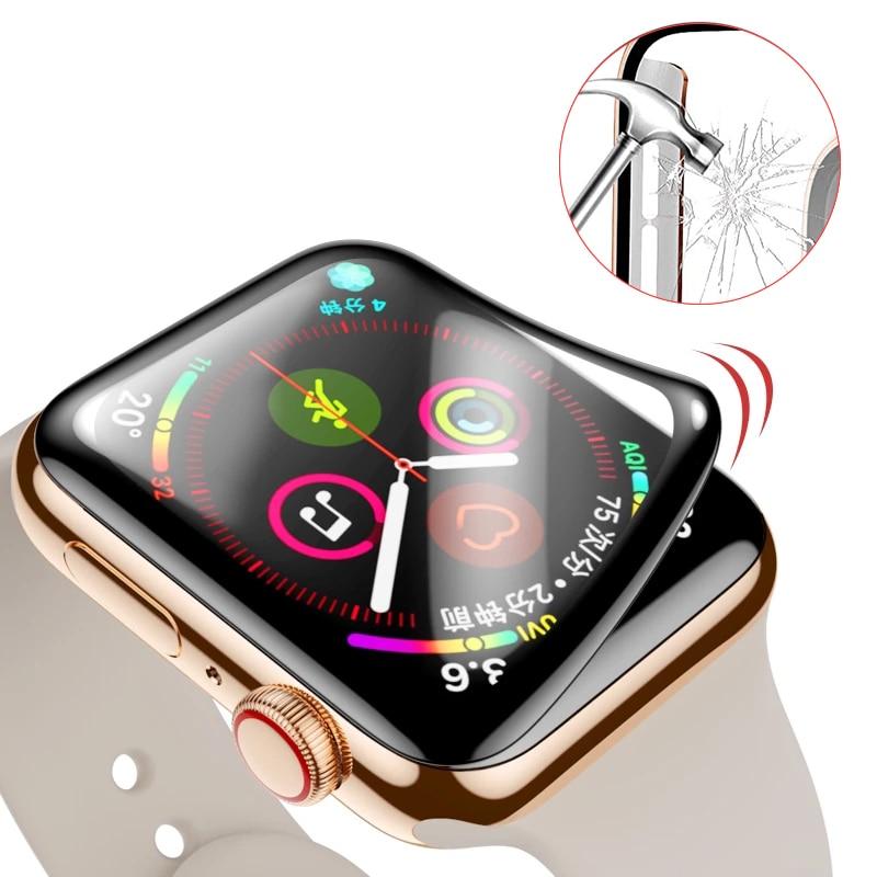 Pellicola salvaschermo impermeabile per apple watch 5 4 3 38MM 40MM 44MM 42MM (vetro morbido non temperato) pellicola per Iwatch 4/5/6/SE