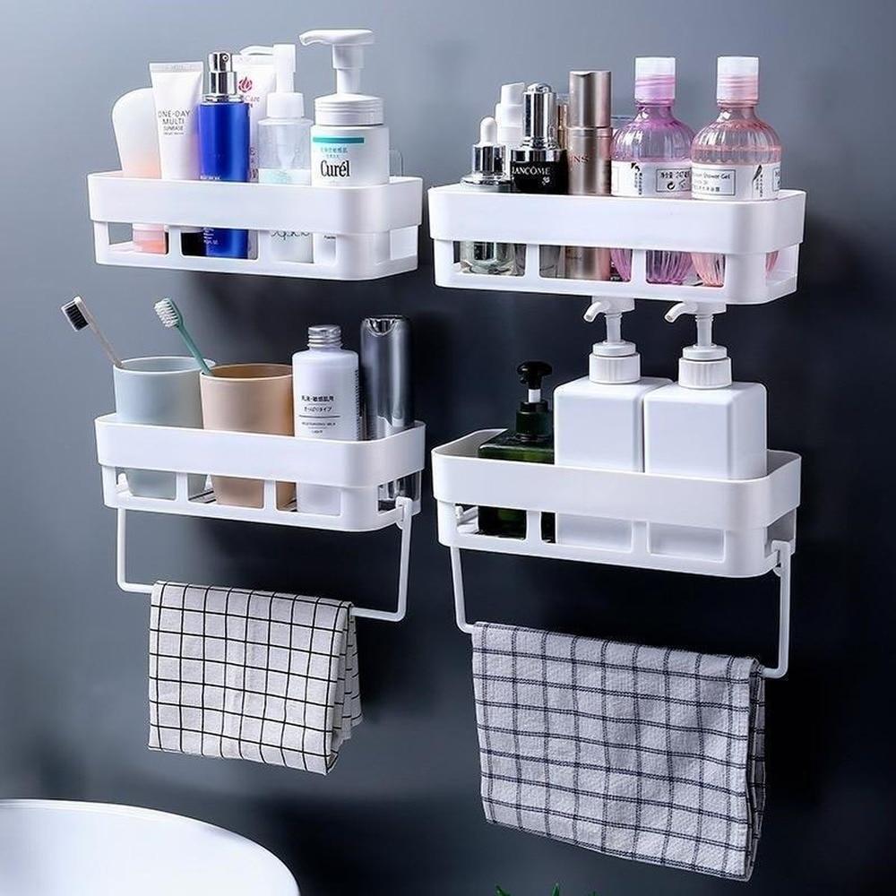 Estante de pared para baño, champú montado en pared, estanterías para ducha, soporte de estante de almacenaje para cocina, organizador de toallas, Bar, accesorios de baño