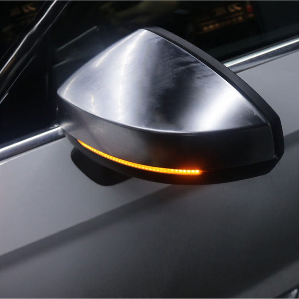 1 par espejo retrovisor para coche lámparas indicadoras Streamer Strip señal de giro fluctuante ámbar LED luces externas Auto piezas de repuesto