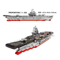 chinese airplane carrier building blocks military miniature modular building minifures toys for boys girls children kids