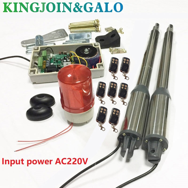 Electric gates / Electric Swing Gate Opener 300 KG Swing Gate Motor With 7 Remote Control wit 1 pair of photocells 1 alarm light electric gates electric swing gate opener 400 kg swing gate motor with 2 remote control wit 1 pair of photocells 1 alarm light